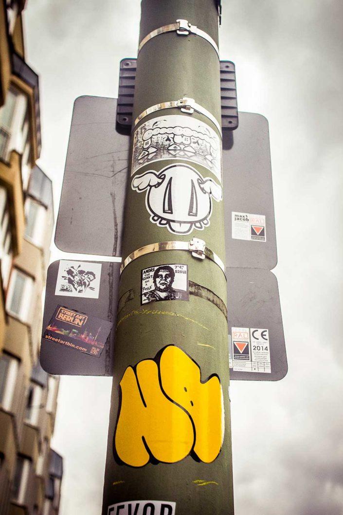 Stickers en farola