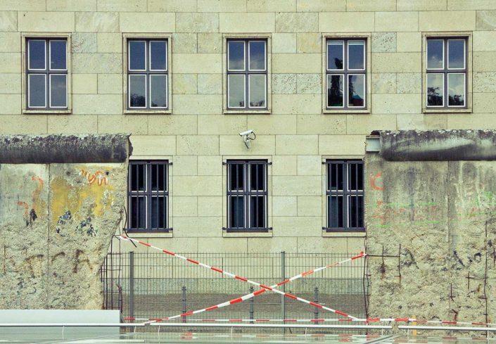 Muro de Berlín, edificio, cámara de seguridad