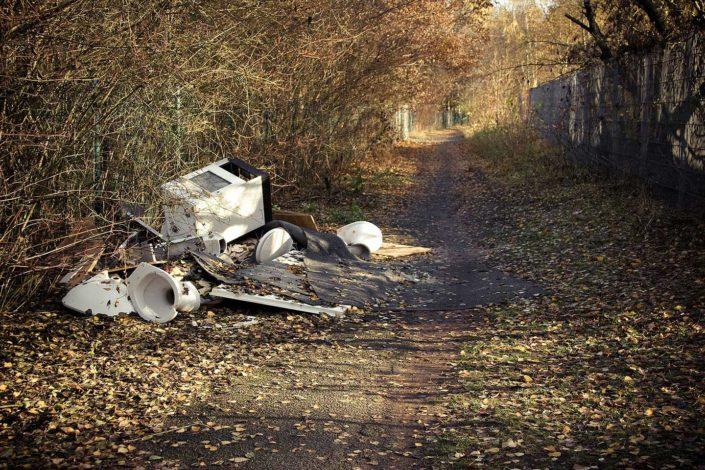 Camino y basura