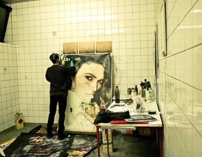 artista en su estudio
