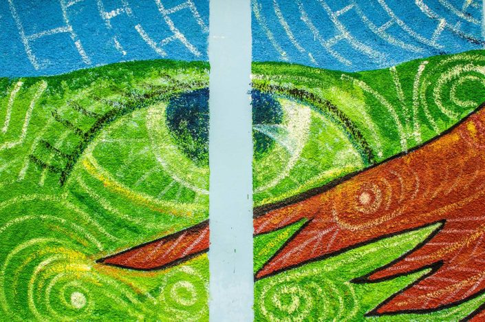 Pintura ojo de serpiente